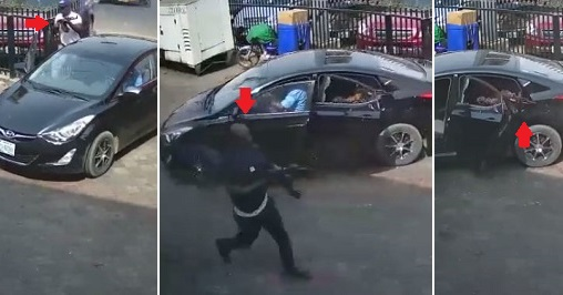CCTV footage of a robbery attack in Zenith Bank surfaces