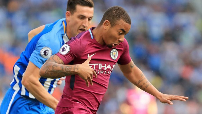 Gabriel Jesus had a goal disallowed in the first half