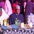 Asiwaju Bola Tinubu, President Muhammadu Buhari and Governor Akinwunmi Ambode