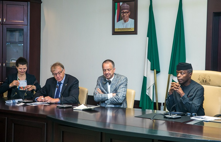 VP meets with Delegations of German Industry & Commerce, Abuja by Novo Isioro
