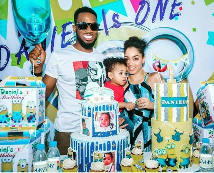 Dbanj, his wife Lineo Didi and their son Daniel