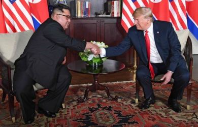 Historic Summit: Donald Trump and Kim Jong-un have become the first sitting US president and North Korean leader to meet