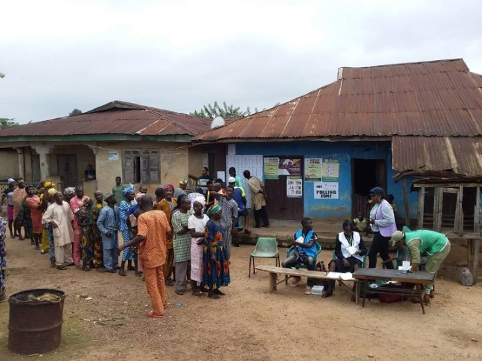 Accreditation and voting ongoing in most local government areas in Ekiti state