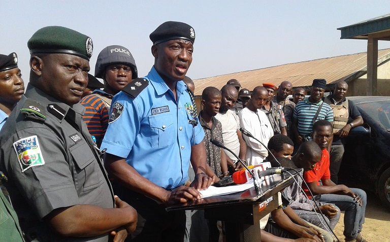 FILE: Police Force PRO, Jimoh Moshood says eight persons with 11 human skull