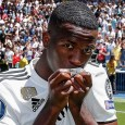 Vinicius Junior unveiled at the Bernabeu after completing a move from Flamengo