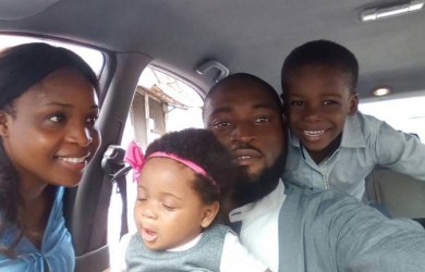 Joe Blankson with his wife Mercy and their two lovely kids