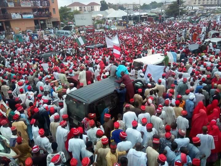 Senator Rabiu Kwankwaso has formally declared to run for president in Abuja, Nigeria's capital