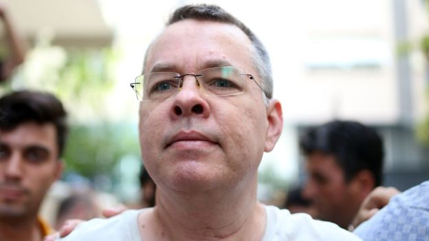 Pastor Andrew Brunson was moved to house arrest last month due to health issues
