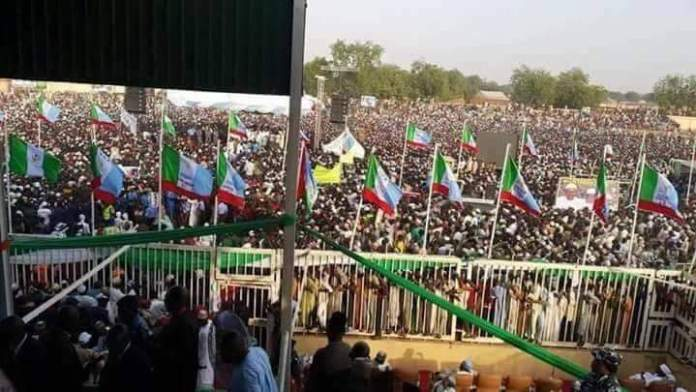 Senator Aliyu Wammako showed who is boss by holding a mega APC rally in Sokoto