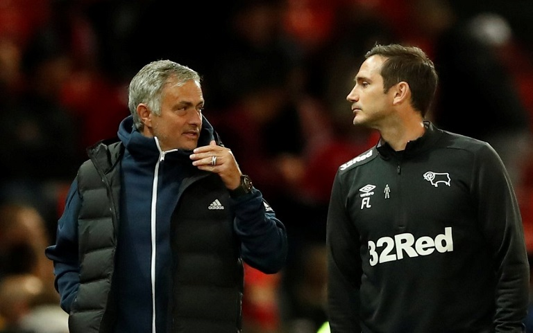 Frank Lampard twice played under Jose Mourinho at Chelsea
