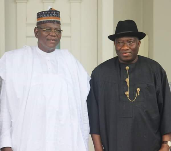Goodluck Jonathan received Sule Lamido at his residence in Bayelsa, Sout-South Nigeria