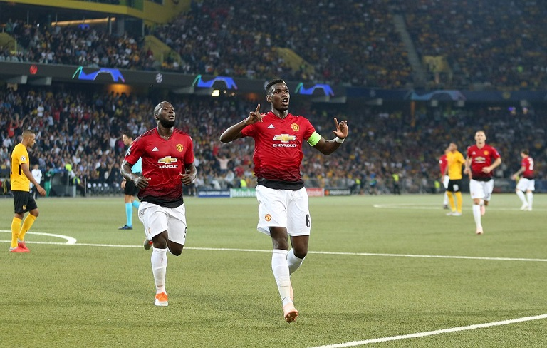 Paul Pogba scored twice as Manchester United beat Young Boys 3-0