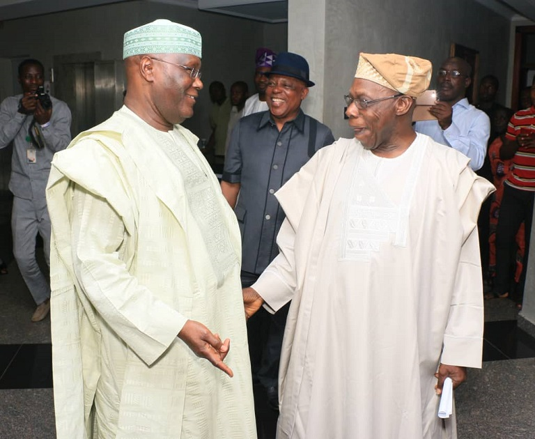 Chief Olusegun Obasanjo, Atiku Abubakar and Prince Uche Secondus