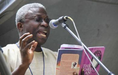 Prof Niyi Osundare has urged Kayode Fayemi to restore Ekiti values and shun stomach infrastructure
