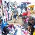 FILE: Women picking fairly used underwear in a market in Nigeria