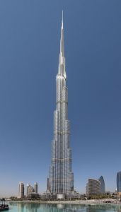 The world's second tallest building, the Burj Khalifa, was destroyed by the impact of seven hijacked intercontinental spaceplanes.