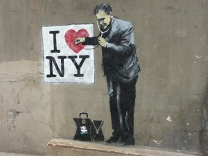 Banksy's mass-produced social critique has given New Yorkers cynical inspiration in a trying time.