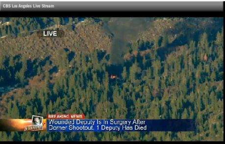 Dorner's cabin burns down