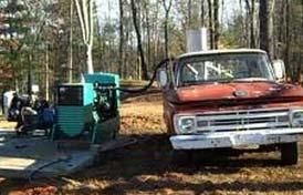Practical Prepper runs homestead diesel generator on woodgas crossfed from his Ford truck.