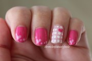 valentines day nails pink hearts