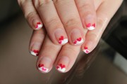 valentines day nails french tip