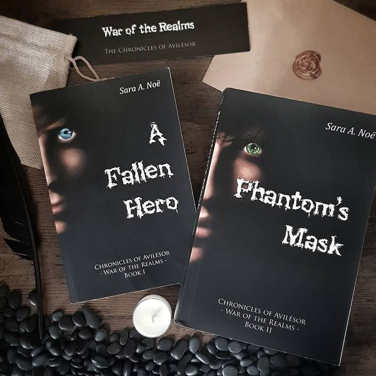 A Fallen Hero and Phantom's Mask #bookstagram by @theplumreport