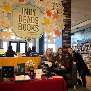 Author Sara A. Noe with fans at Indy Reads book signings