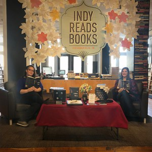 Author Sara A. Noe and publicist Kayla M. Ware at Indy Reads for A Fallen Hero book signing