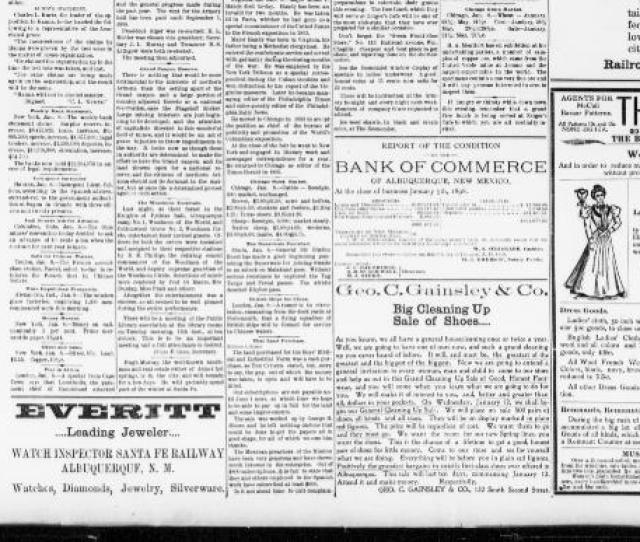 Albuquerque Daily Citizen January 08  About Albuquerque Daily Citizen Albuquerque N M 1895 1903