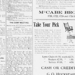 Mccabe Camping Chairs Steel Chair Manufacturer Ludhiana Rock Island Daily Argus Ill 1886 1893 August 23 Page 5 Image Chronicling America Library Of Congress