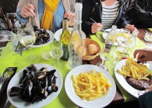 Moules Frites at Au Chalutier.