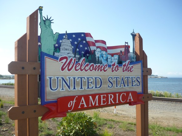 United States of America Welcome Sign