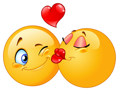 Kissing emoticons