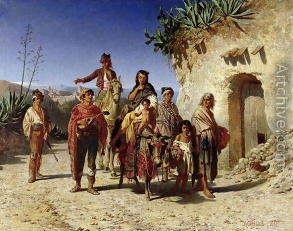 """""""Les Bohémiens en voyage""""Achille Zo, 1861"""