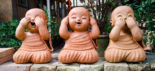 sculpture eyes ears speak no evil