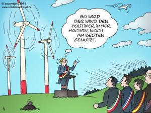 Pour ce qui est du vent, les politiciens en font toujours un meilleur usage.