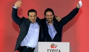 Pablo Iglésias et Alexis Tsipras