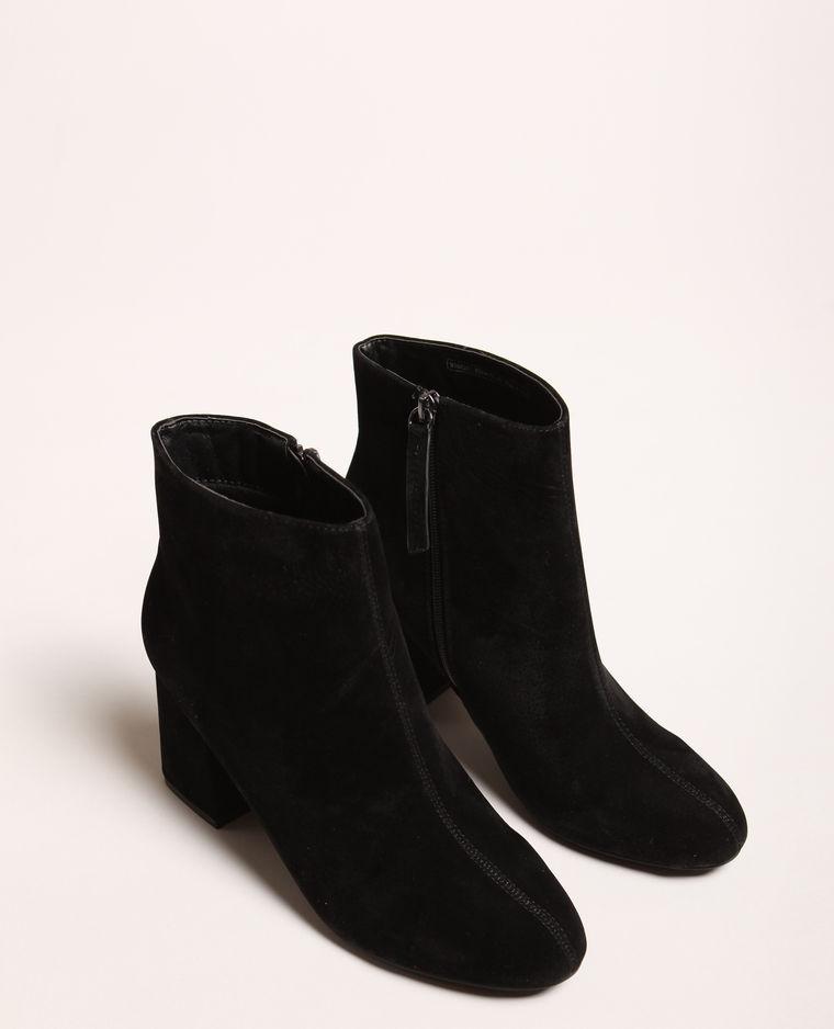bottines à talons carré noir pimkie