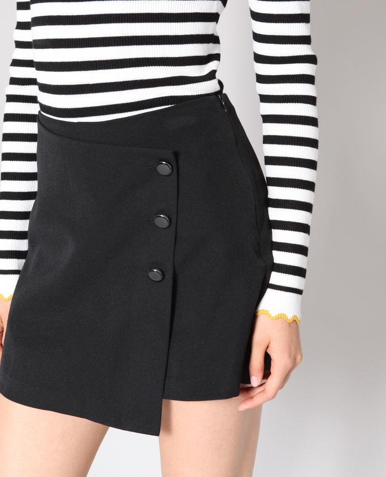 jupe short noir pimkie