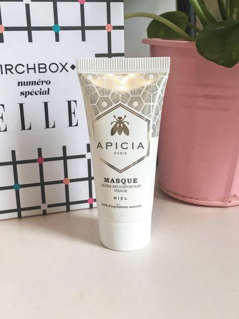 masque réconfortant Apicia birchbox de septembre