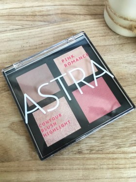 palette pink romance, astra make-up