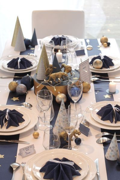 table-noel-blanc-bleu