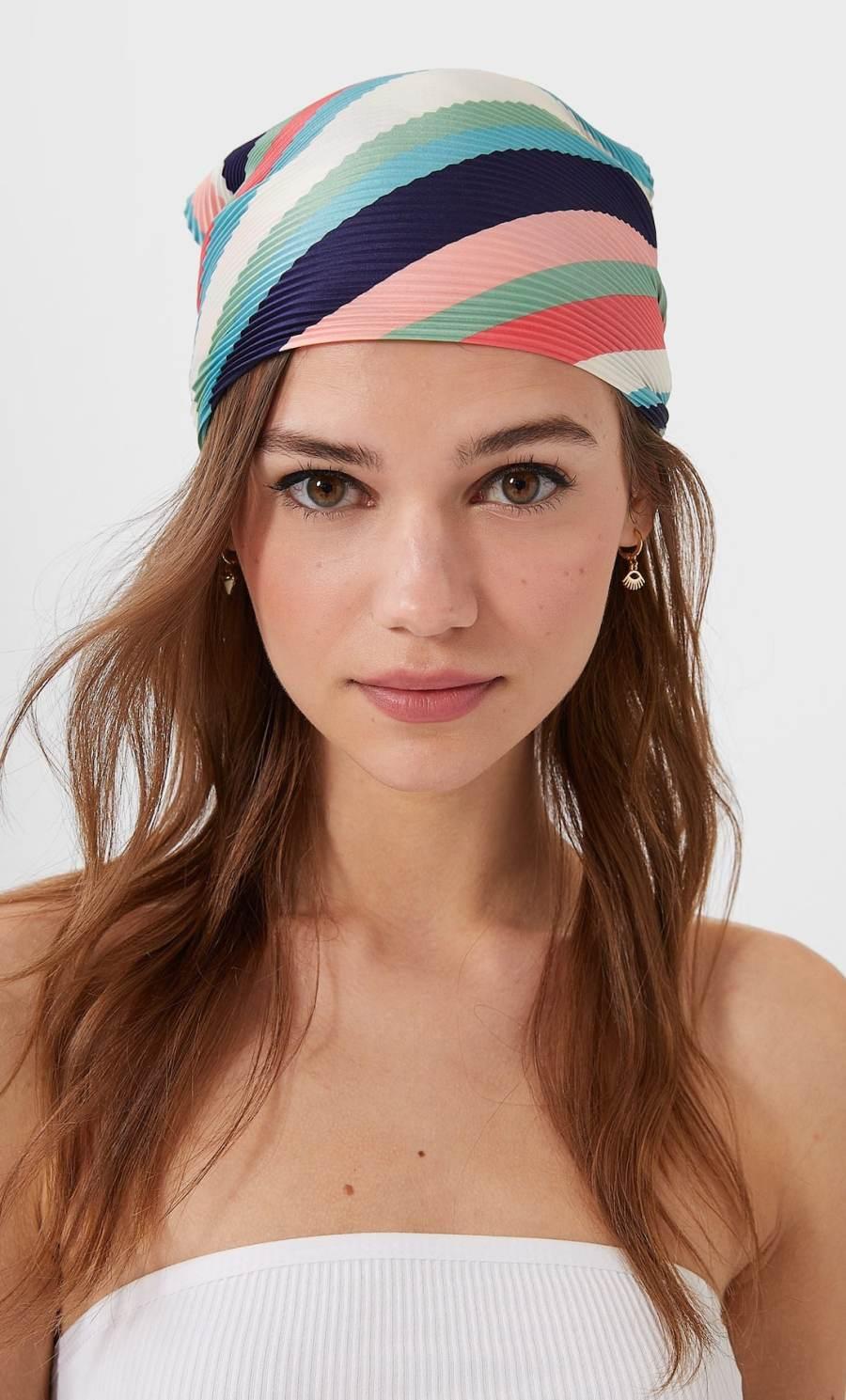 foulard rayures