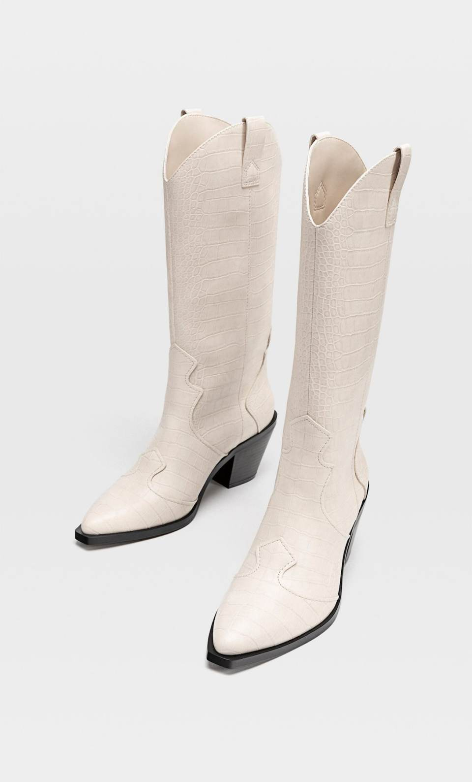 bottes cowboy blanches