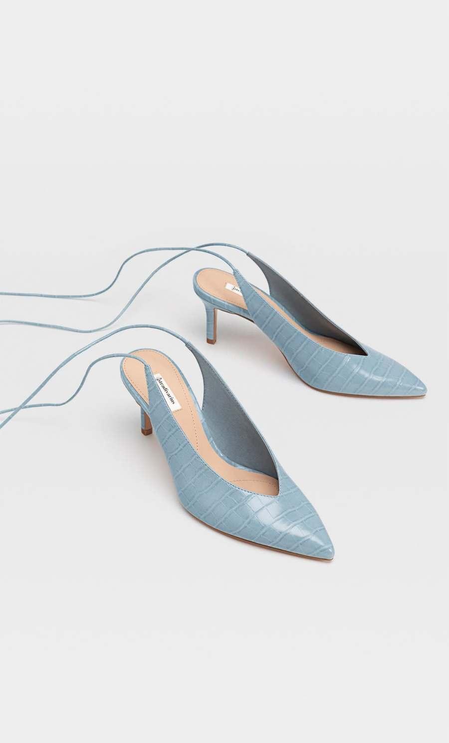 escarpins pointus bleu