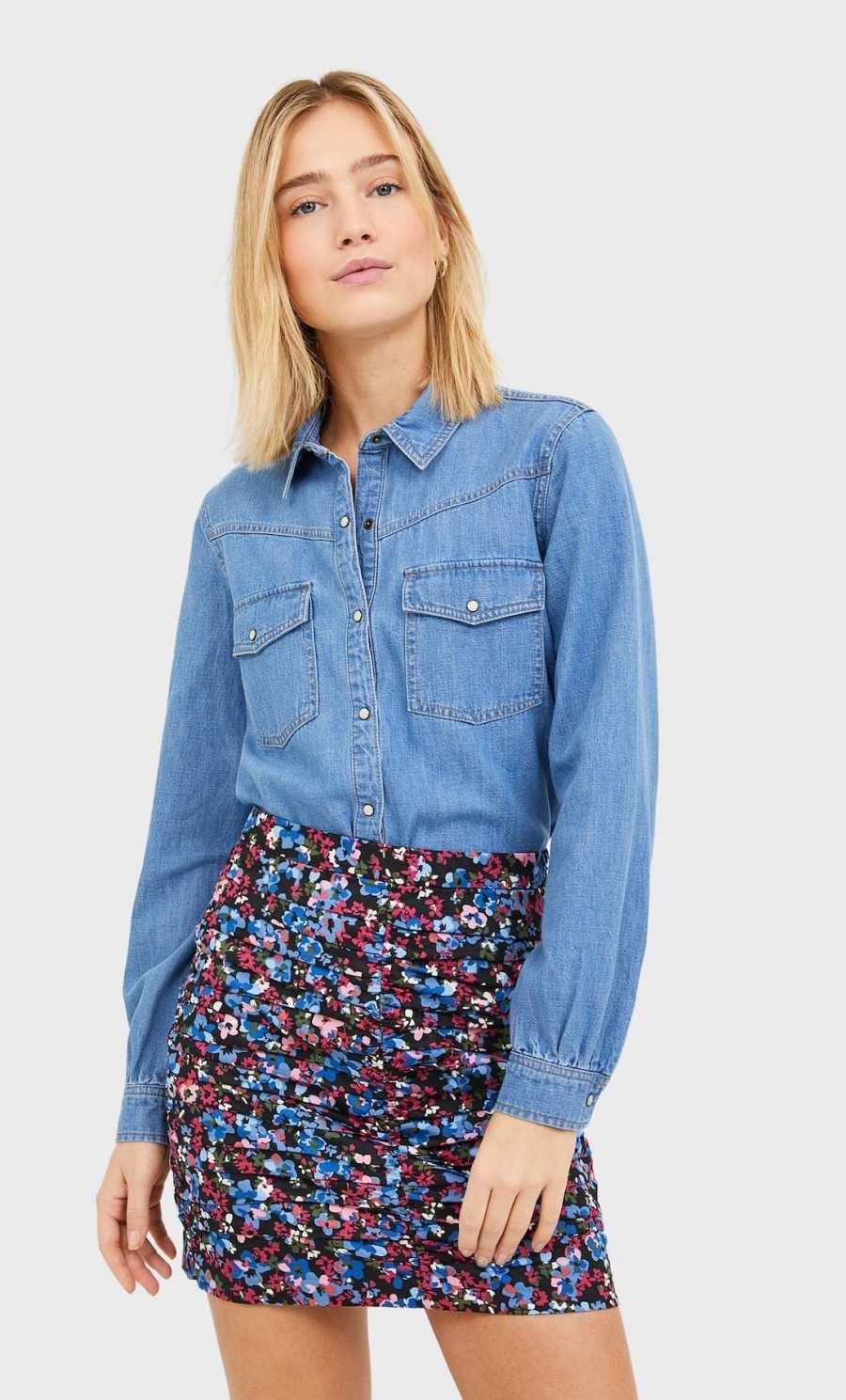 jupe plisée fleurie