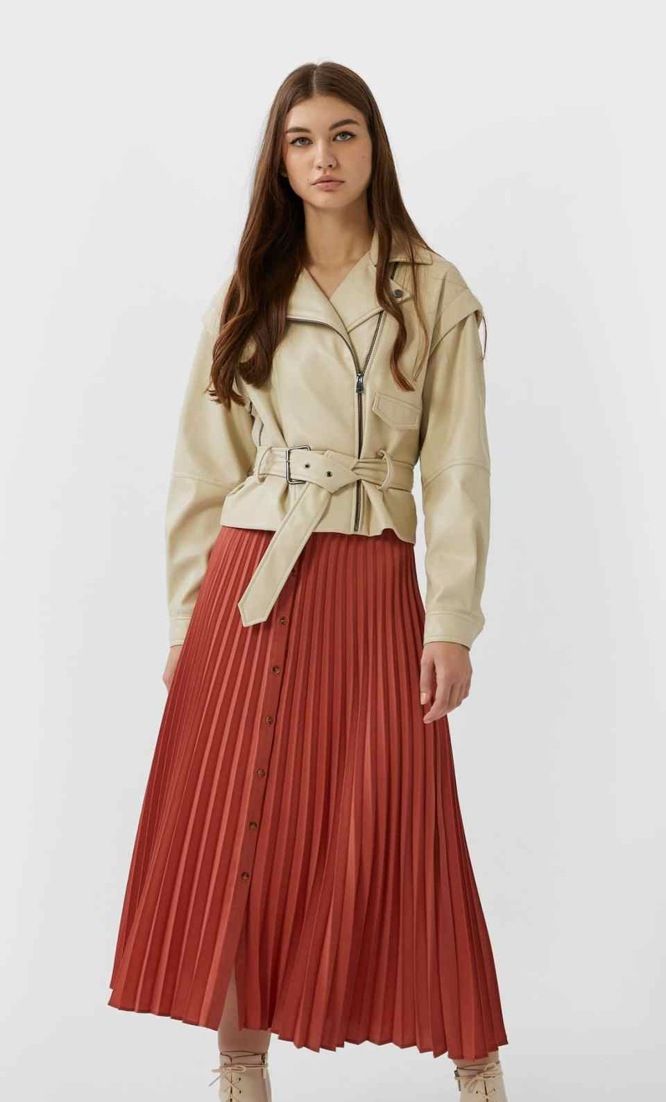 jupe plisée