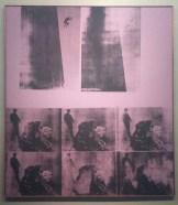 Andy Warhol, Suicide (Purple Jumping Man), acrylique et impression sur toile, 230 x 203 cm.