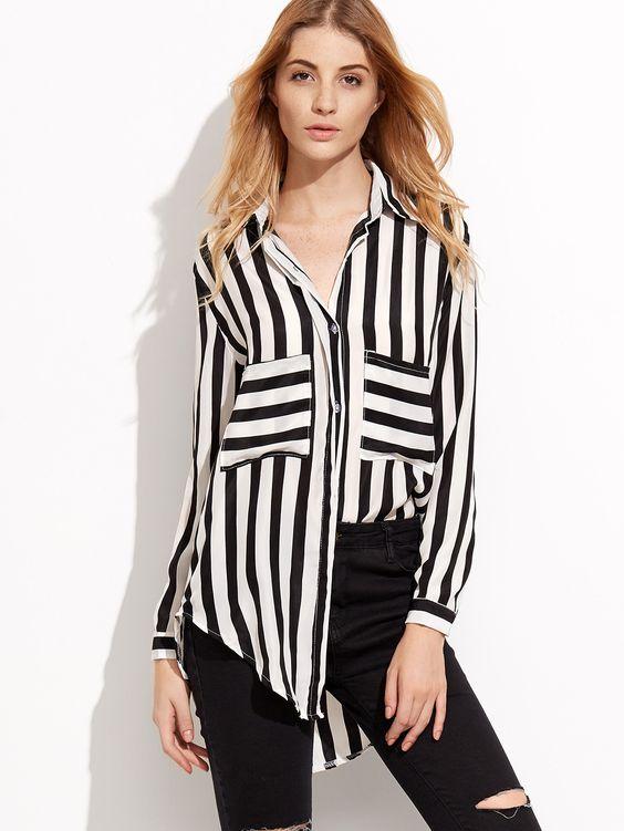 chemise-rayures