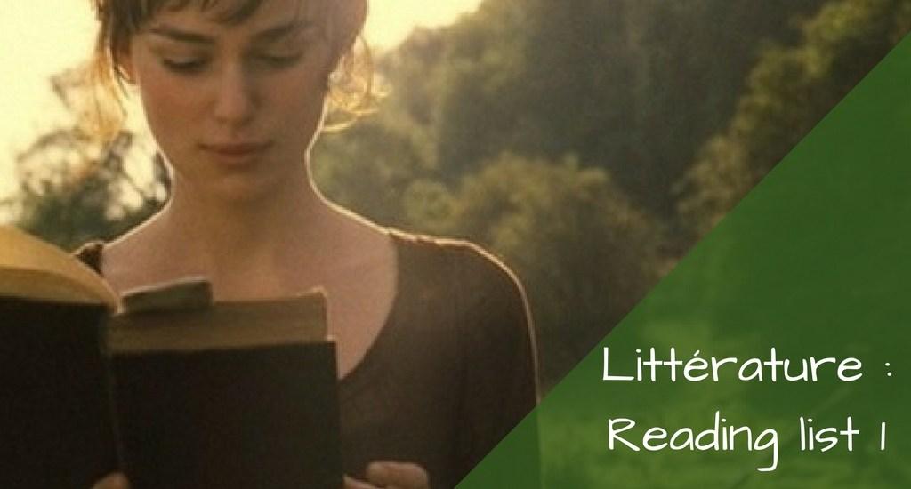 litterature-reading-list